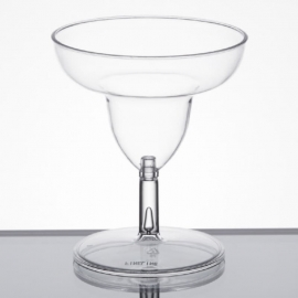 Fineline Settings Tiny Toasts Clear Plastic Cup 2oz Catering Supplies 2 Piece, Margarita Glass - 6402 - 12/pk