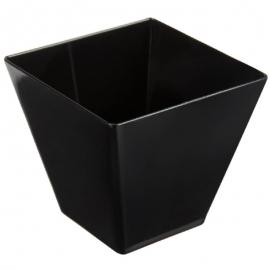Fineline Settings Black Plastic Tiny Cube Bowl 2oz Party Supplies - 6411BK - 20/pk