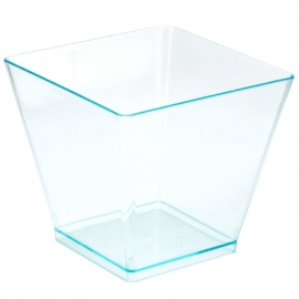 Fineline Settings Clear Plastic Tiny Cube Bowl 2oz Party Supplies - 6411L - 20/pk