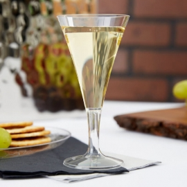 Fineline Settings Tiny Temptations Clear Plastic Champagne Flute 2oz Party Supplies 1-Piece - 6412L - 8/pk