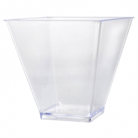 Fineline Settings Clear Plastic Twisted Cup 6oz Catering Supplies - 6419 - 600/cs