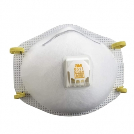3M N95 Respirator Mask with Valve NIOSH Approved - 665585115