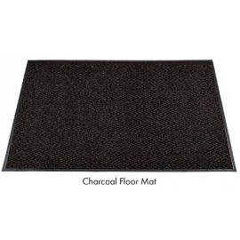Chevron Polypropylene In/Out Scraper Mat 3ft x 10ft Charcoal - 6807310 -