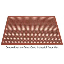 Safety Flo Kitchen Mat 3ft x 5ft Terra Cotta, Grease Resistant - 6902035 -