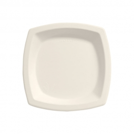 "Dart Solo Bare 6"" Sugarcane Bagasse Paper Plates Ivory - 6PSC-2050 - 1000/cs"