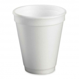 Genpak Plain 7 oz Foam Cups - 700M - 1000/cs
