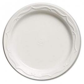 """Genpak Aristocrat High Impact 6"""" Round White Plastic Plates - 70600 - 1000/cs"""