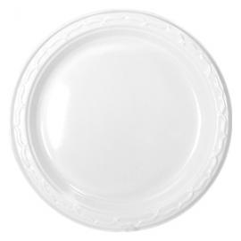 """Genpak Aristocrat High Impact 7"""" Round White Plastic Plates - 70700 - 1000/cs"""