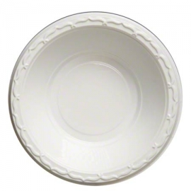 Genpak Aristocrat High Impact White 16 oz Plastic Bowls  - 71600 - 1000/cs