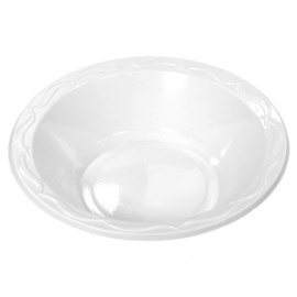 Genpak Aristocrat High Impact White 24 oz Plastic Bowls  - 72400 - 500/cs