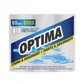 Optima Household Retail Paper Towels 140 Sheets - 75256D1 - 6rl/cs