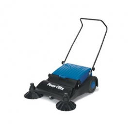 """Powr-Flite PS320 Manual Sweeper 32"""" With Adjustable Front Side Brushes - 7555049"""