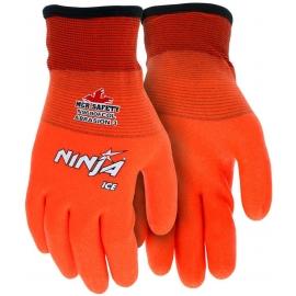 Ninja Ice Coated Orange Glove Large 15 Gauge orange nylon, Acrylic terry inner, HPT fully coated - 8000MGN9690FOL - 6dz/cs