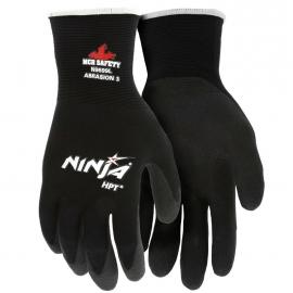 Ninja HPT Black Nylon Glove Large HPT Coated Palm and Fingertips - 8000MGN9699L - 12dz/cs
