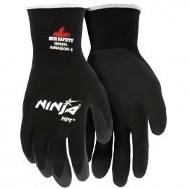 Ninja HPT Black Nylon Glove Medium HPT Coated Palm and Fingertips - 8000MGN9699M - 12dz/cs