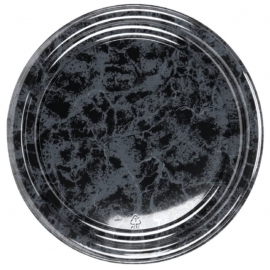 Sabert 16in Black Marble Flat Tray - 816 - 36/cs