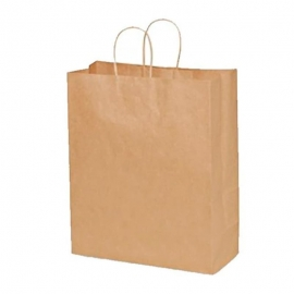 "Traveler Brown Shopping Bag 13"" x 6"" x 15.75"" With Rope Handle - 87127 - 250/cs"