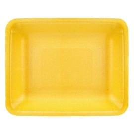 "CKF 4D/4P-R Yellow Foam Trays 9.25"" x 7.25"" x 1.25"" - 87899 - 500/cs"