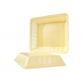 "CKF 809P Yellow Foam Trays 11"" x 9.25"" x 2"" - 87949 - 200/cs"