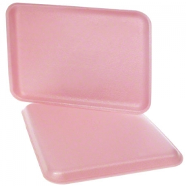 "CKF 38/8S Rose Pink Foam Trays 8"" x 10"" x 0.4"" - 87958 - 500/cs"