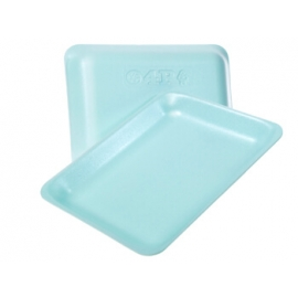 "CKF 4P Aqua Foam Trays 7.2"" x 9.2"" x 1.3"" - 88204 - 400/cs"