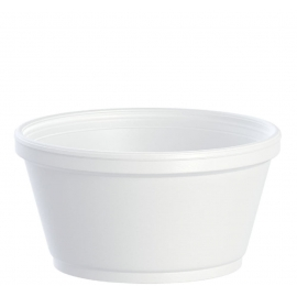Dart 8 oz Squat Foam Containers - 8SJ20 - 1000/cs