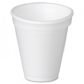 Genpak Plain 9 oz Foam Cups - 900M - 1000/cs
