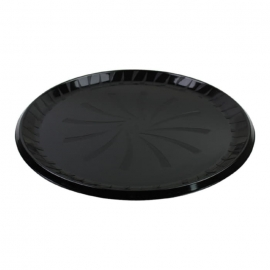 Sabert 16in Sturdiware Black Plastic Platter - 9016 - 36/cs