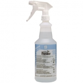 Spartan Clean on the Go Translucent 32 oz. Spray Bottle with Trigger sprayer 15 Clean by Peroxy - 924700 - 12/cs