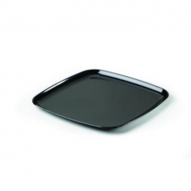 Sabert Mozaïk 14in Black Square Plastic Platter - 9314 - 25/cs