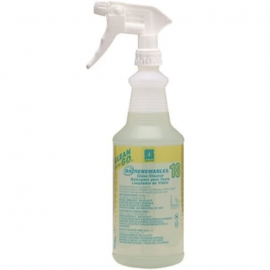 Spartan Clean on the Go Biorenewables 32 oz. Glass Cleaner Spray Bottle with Trigger - 933100 - 12/cs