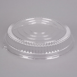 """Fineline Settings Clear Plastic Round Low Dome Lid 16"""" Party Supplies - 9601LL - 25/cs"""