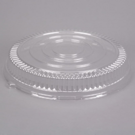 """Fineline Settings Clear Plastic Round Low Dome Lid 18"""" Party Supplies - 9801LL - 25/cs"""