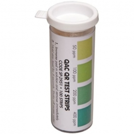 Spartan Quaternary Disinfectant Test Strips 50-400ppm - 983800 - 100pk