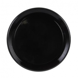 Sabert 12in Onyx Black Round Plastic Platter - 9912 - 36/cs