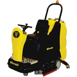 "Tornado BD 33/30 Ride On Automatic Scrubber 33"" Complete With AGM Batteries, Pad Drivers & Charger - 99780G"