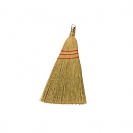 Heavy Duty Whisk Corn Broom With Metal Clip, 3 String - BC-102