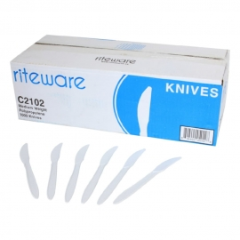 RiteWare White Knives Medium Weight Cutlery - C2102 - 1000/cs