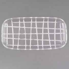 """Fineline Settings Clear Cut Crystal Tray 12""""x6"""" Catering Supplies - CC126 - 24/cs"""