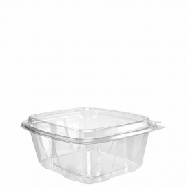 """Dart ClearPac SafeSeal 32 oz Dome Tamper-Resistant, Tamper-Evident Plastic Containers 7.1"""" x 6.4"""" x 2.9"""" - CH32DED - 200/cs"""