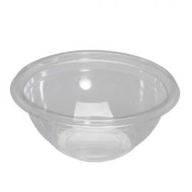 "Genpak Clear Crystalline High Impact 16 oz Plastic Bowls 6"" x 2.38"" - CW016-CL - 200/cs"