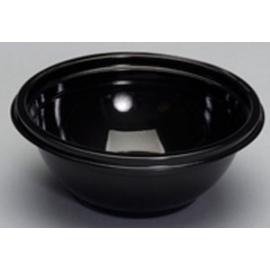 "Genpak Black Crystalline High Impact 16 oz Plastic Bowls 6"" x 2.38"" - CW016 - 200/cs"