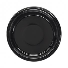 Darnel 9in Black Plastic Plates - D592399C1 - 500/cs