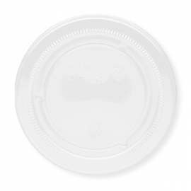 Darnel Clear Flat Lid fits 3oz, 4oz, 5.5oz Plastic Portion Cups - D633000TN - 25x100/cs