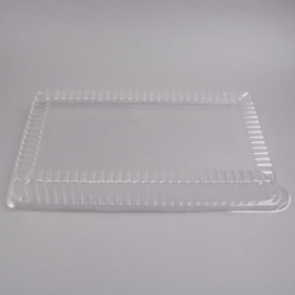 """Fineline Settings Clear Plastic Rectangular High Dome Lid 12""""x18"""" Party Supplies - DDR1812L - 40/cs"""