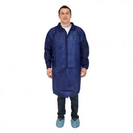 Lab Coat, Blue Polypropylene 2X-Large No Pocket - DLBL-2X-NP - 30/cs
