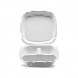 """Darnel Q-1P 8in Ivory Pulp Bagasse Hinged Container 8.25"""" X 8.25"""" X 2.75"""" - DN405302 - 200/cs"""