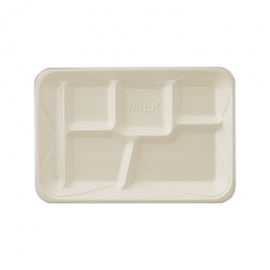 Darnel 5 Compartment Foam Lunch Tray - DU2014501 - 500/cs