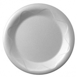 Darnel 10in White Foam Plates - DU5010101 - 500/cs
