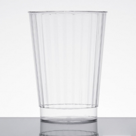 Fineline Settings Hard Plastic Crystal Tumbler 12oz Speciality Food Service Supplies Clear - FNL2412CL - 20/pk